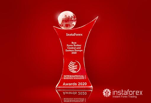 InstaForex  - इंटरनेशनल बिज़नेस मैगज़ीन द्वारा सर्वश्रेष्ठ फॉरेक्स ब्रोकर मध्य और पूर्वी यूरोप 2020