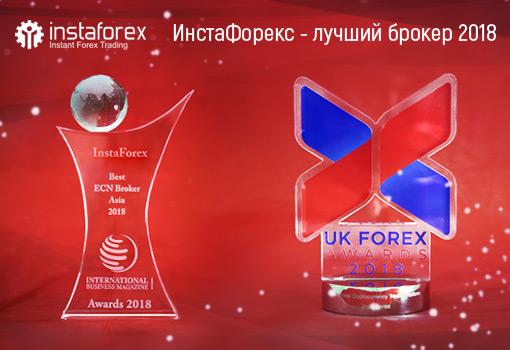 Компания ИнстаФорекс удостоилась сразу двух престижных наград
