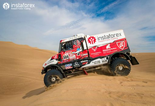 Rally team headed by Aleš Loprais enters Top 5 in Dakar 2019