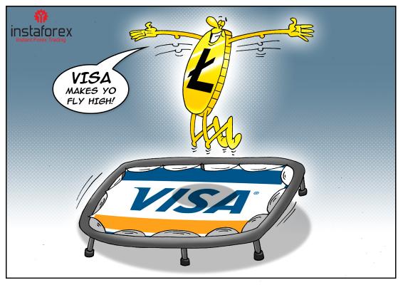 Litecoin meroket di tengah kesepakatan dengan Visa