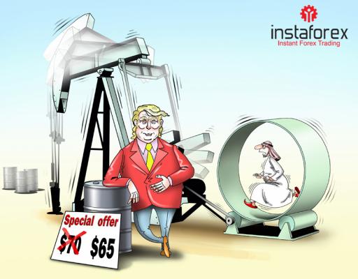 Harga minyak turun terkait Trump yang mendesak OPEC untuk tidak memangkas cadangan minyak.