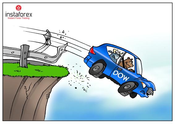 Dow Jones turun sebanyak empat kali dalam satu tahun