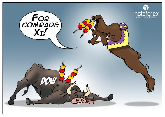 随着特朗普再次袭击中国,美国股指暴跌