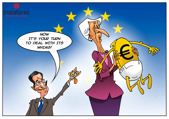 Draghi leaves his chair when eurozone's economy on verge of recession