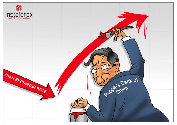 Yuan está subiendo mientras el Banco Central de China detiene la intervención
