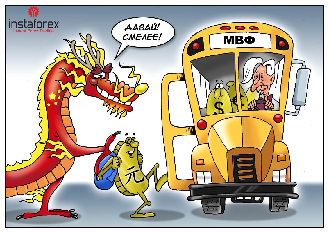 «Юань! Добро пожаловать! В корзину залетай!» Такое вот решение порадует Китай.