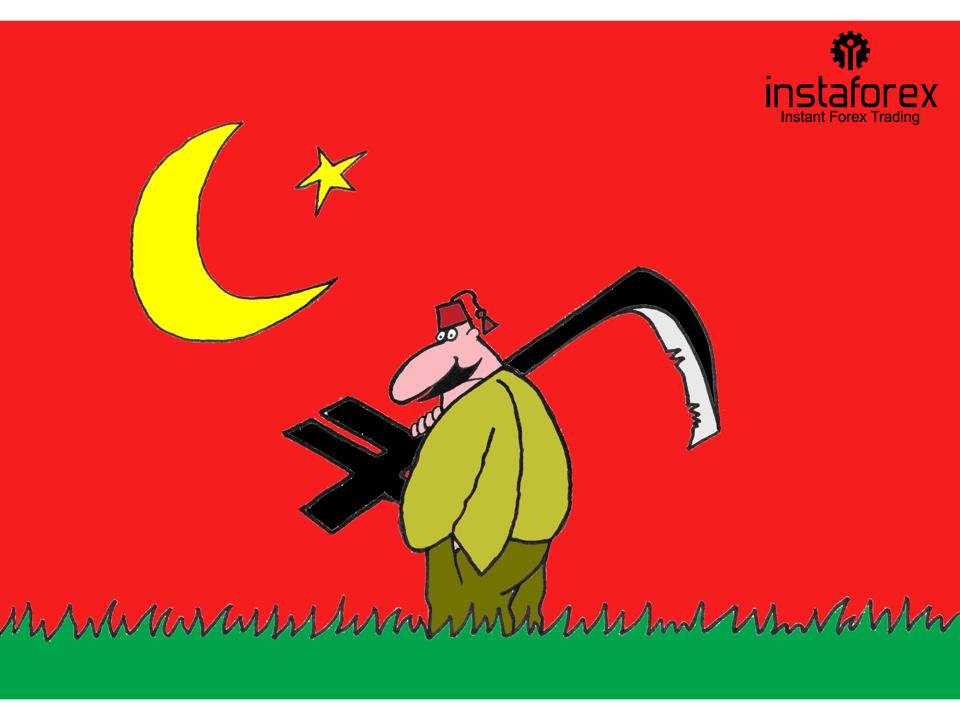 Турецкая лира подешевела на фоне политической нестабильности