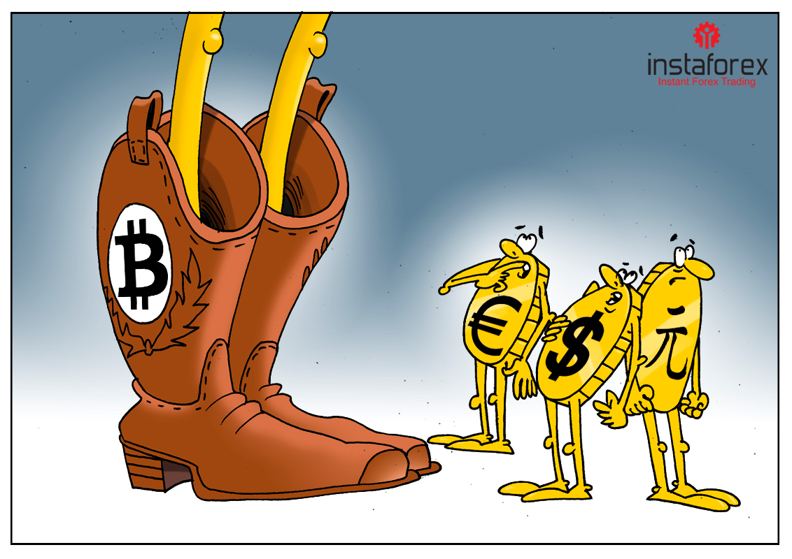 Кое-кто очень доволен, его радует биткоин!