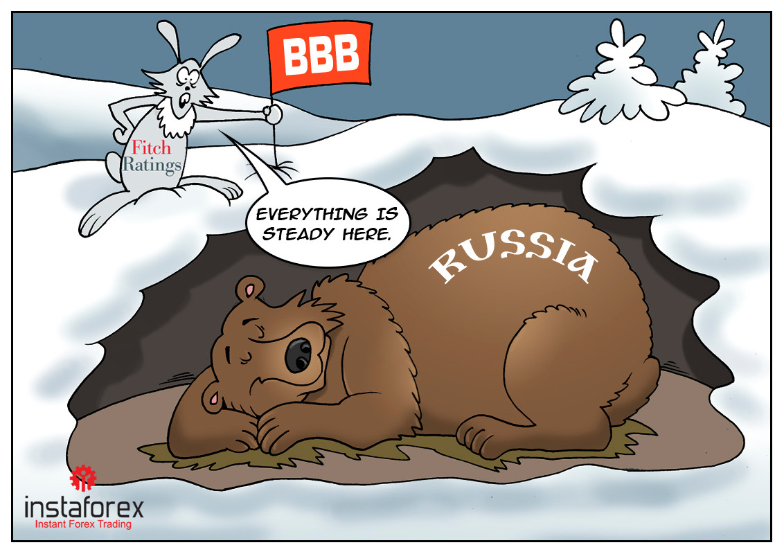 Fitch revises Russia's outlook to positive