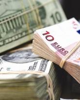 Рубль падает к евро и доллару