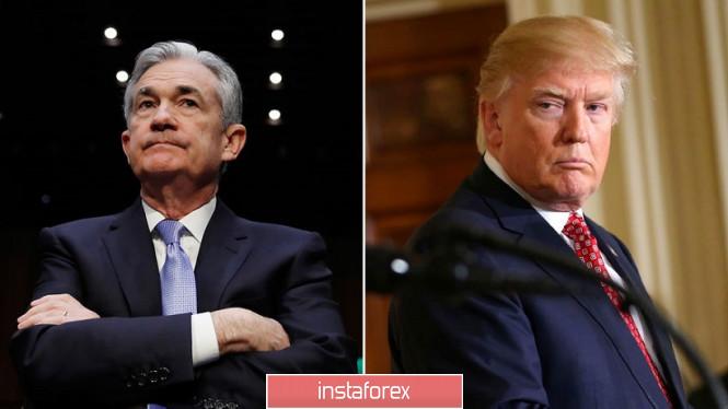 InstaForex Analytics:  EURUSD. Nieoczekiwane spotkanie Trumpa z Powellem zaniepokoiło byków dolarowych
