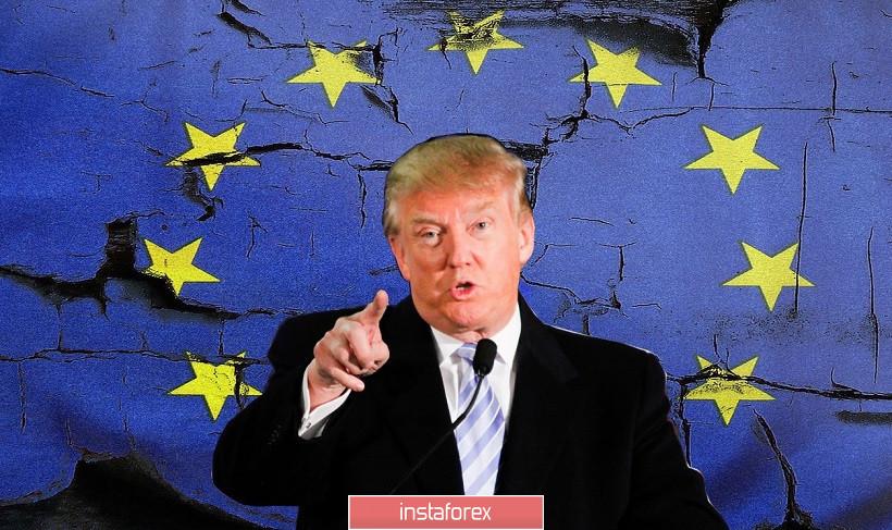 EUR/USD. «ЕС также плох, как и Китай»: слова Трампа прервали северное наступление