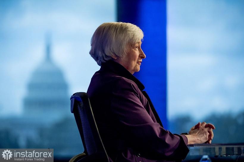 EUR/USD. Traders unsurprisingly ignored Yellen's speech