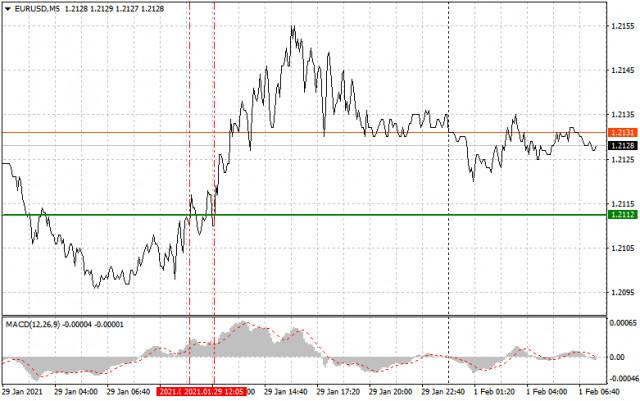 Einfache Empfehlungen zum Marktein- und Ausstieg für Anfänger (eine Analyse des Handelstages). GBP/USD und EUR/USD am 1. Februar