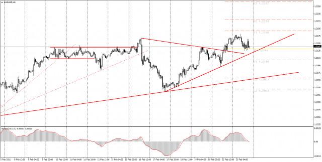 面向初学者的分析和交易信号。2月24日如何交易欧元/美元货币对? 周二的分析。为周三做准备。