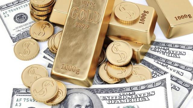 Angesichts der Renditensenkung der US-Staatsanleihen wird der Dollar billiger, das Gold hingegen teurer