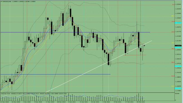 Indikatoranalyse. EUR/USD – Tagesübersicht für den 3. März 2021