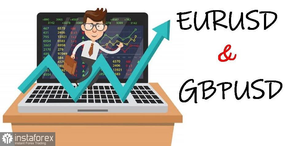 Cadangan perdagangan untuk permulaan pasangan mata wang EUR/USD dan GBP/USD pada 10 Mac 2021