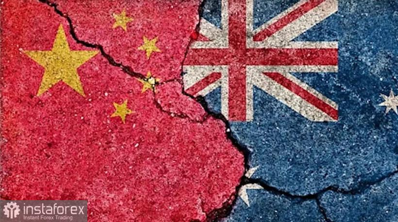 """Pasangan mata wang AUD/USD. Dolar Australia mengalami tekanan sekali lagi: Australia menyokong """"gabungan anti-China"""""""