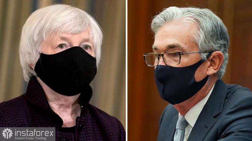 EUR/USD. Powell dan Yellen mengesahkan khabar angin yang optimis