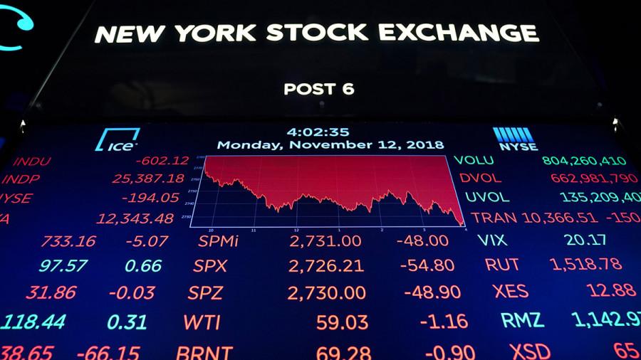 Падение фондового рынка США: резкое снижение стоимости акций высокотехнологических компаний