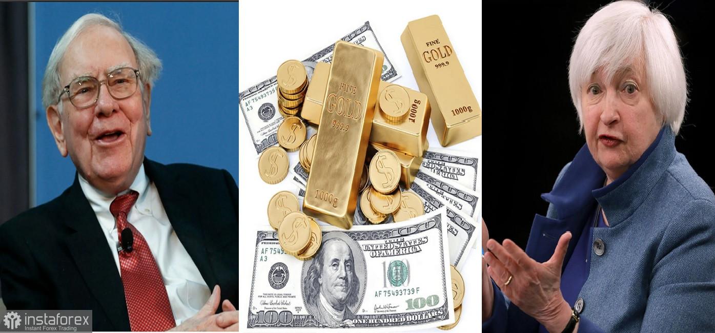 Warren Buffett memperburuk situasi, sementara Janet Yellen meminimalisasi ancaman inflasi.