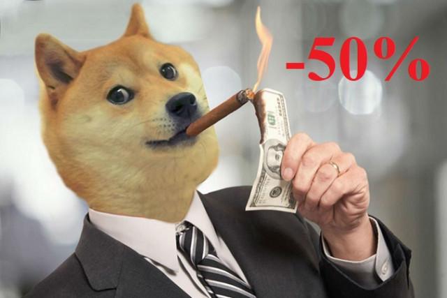 Dogecoin mất 50%