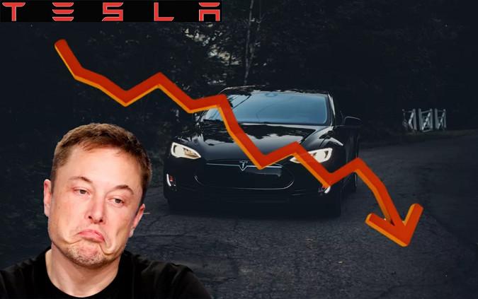 Самое большое падение акций Tesla за три недели