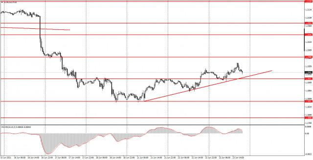 Аналитика и торговые сигналы для начинающих. Как торговать валютную пару EUR/USD 24 июня? Анализ сделок среды. Подготовка к торгам в четверг.