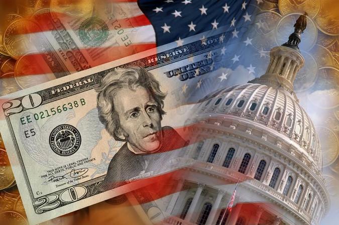 Dolar turun karena data AS lemah