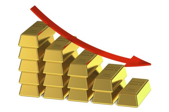 सोना पिछले साल अप्रैल के निचले स्तर तक गिर गया