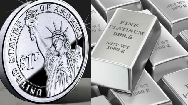 $1 trillion platinum coin can solve US debt issue